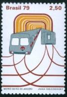 BRAZIL #1601 -  SUBWAY - METRO OF RIO DE JANEIRO  - TRAIN -  1979 - Brazil