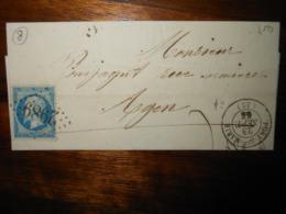 Lettre GC 2989 Port Sainte Marie Lot Et Garonne Avec Correspondance - 1849-1876: Classic Period