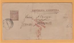 OM3  Argentine Entier Postal BJ 10 MAY 90 + Retour A L'envoyeur 2240 + Inconnu A L'appel De La 2è + 3è Brigade Marseille - Interi Postali