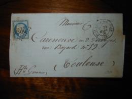 Lettre GC 2986 Port De La Nouvelle Aude Avec Correspondance - 1849-1876: Classic Period