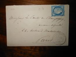 Enveloppe GC 2977 Pontrieux Cotes Du Nord - 1849-1876: Classic Period
