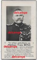 Doodsprentje Frans Beyls Waregem Rijkswacht Gendarmerie Oorlog Oudstrijder 1914 1918 En Overleden Ternat 1949 Van Craen - Images Religieuses