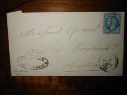 Lettre GC 2976 Pontorson Manche Avec Correspondance - 1849-1876: Classic Period
