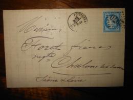 Lettre GC 2970 Pontgibaud Puy De Dome Avec Correspondance - 1849-1876: Classic Period