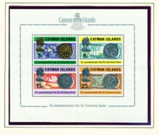 CAYMAN ISLANDS - 1972 Coins Miniature Sheet Unmounted/Never Hinged Mint - Cayman Islands