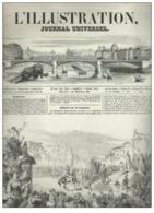 L'illustration Journal Universel N°348 Vol XIII Douceur Exceptionnelle De L'hiver à Paris De 1849 - Magazines - Before 1900