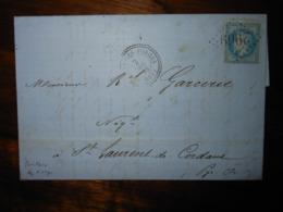 Lettre GC 2969 Pontonx Sur L'Adour Landes Avec Correspondance - 1849-1876: Classic Period