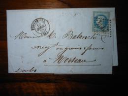 Lettre GC 2964 Pontarlier Doubs Avec Correspondance - 1849-1876: Classic Period