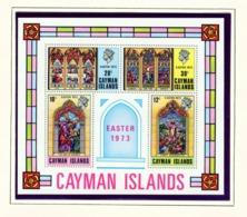 CAYMAN ISLANDS - 1973 Easter Miniature Sheet Unmounted/Never Hinged Mint - Cayman Islands