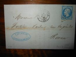 Lettre GC 2955 Pont Saint Pierre Eure Avec Correspondance - 1849-1876: Classic Period