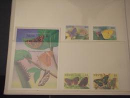 NEVIS - 1993 FARFALLE 4 VALORI - NUOVI(++) - St.Kitts Und Nevis ( 1983-...)