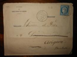 Enveloppe GC 2954 Pont Saint Esprit Gard - 1849-1876: Classic Period