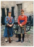 CPM - Sergent-Major Des Volontaires De L'Ouest 1870/71 - Lieutenant D'Etat Major Volontaires Garibaldiens 1870 - Uniforms
