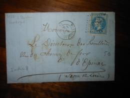 Lettre GC 2952 Pont Royal Cote D'Or Avec Correspondance - 1849-1876: Classic Period