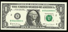 * USA 1 Dollar 2017 ! UNC ! Beautiful   Number 55229900 - Biljetten Van De  Federal Reserve (1928-...)