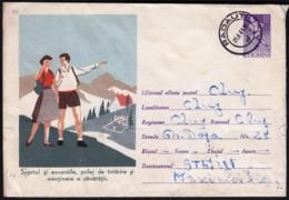 Romania Radauti 1961 / Sportul, Sport, Volleyball, Athletics, Running, Mountaineering / Postal Stationery - Enteros Postales