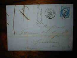Lettre GC 2951 Pont Remy Somme Avec Correspondance - 1849-1876: Classic Period