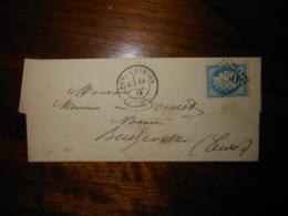 Lettre GC 2950 Pont L'Eveque Calvados - 1849-1876: Classic Period