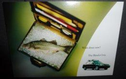 Carte Postale - édition Max Racks - What About Now ? (poisson Dans Une Valise) The Honda Civic. - Pubblicitari