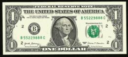 * USA 1 Dollar 2017 ! UNC !  Beautiful   Number 55229888 - Biljetten Van De  Federal Reserve (1928-...)