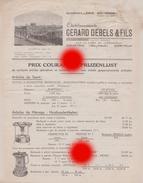 Ets Gerard Debels & Fils Kortrijk Courtrai  /  Catalogue - Reclame