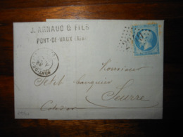 Lettre GC 2940 Pont De Vaux Ain Avec Correspondance - 1849-1876: Classic Period