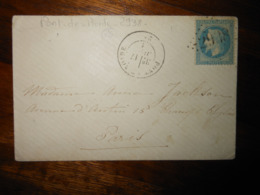 Enveloppe GC 2938 Pont De Roide Doubs - 1849-1876: Classic Period