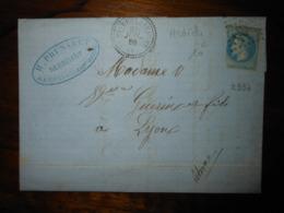 Lettre GC 2934 Pont De Labeaume Ardeche Avec Correspondance - 1849-1876: Classic Period