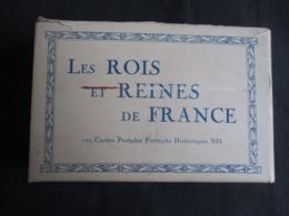 CARNET 100 CP (M1915) LES ROIS ET LES REINES DE FRANCES (4 Vues) 100 Cartes Postales Portraits Historiques ND Voir Descr - Personnages Historiques