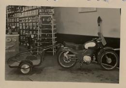 ASTURIAS / OVIEDO - CONCESIONARIO MOTO GUZZI , MOTOCICLETA , MOTO , MOTORCYCLE , MOTORRAD - ANTIGUA FOTOGRAFIA ORIGINAL - Otros