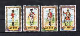 St. Kitts - 1981 - Uniformi - 4 Valori - Nuovi - Linguellati * - (FDC17707) - St.Kitts Und Nevis ( 1983-...)