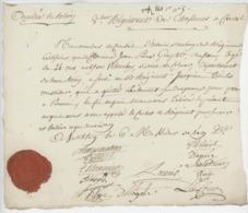 """Armée Du Rhin Chasseur à Cheval Westheim An 2  Val D'Orbey """"Déserteur"""" Beau Sceau - Documents Historiques"""