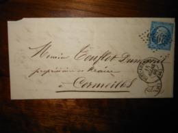 Lettre GC 2925 Pont Audemer Eure Avec Correspondance - 1849-1876: Classic Period
