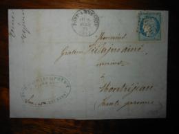 Lettre GC 2924 Pont à Mousson Meurthe Avec Correspondance - 1849-1876: Classic Period