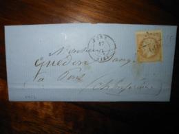 Lettre GC 2922 Pons Charente Inferieure Avec Correspondance - 1849-1876: Classic Period