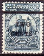 1920 NEWFOUNDLAND SG #144 2c On 30c Used CV £35 - 1908-1947