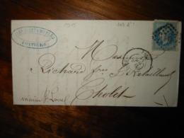 Lettre GC 2915 Poitiers Vienne Avec Correspondance - 1849-1876: Classic Period