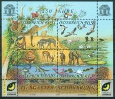 BM Austria 2002 MiNr Block 16 (2381-2384) Sheet MNH | 250th Anniv Of Schönbrunn Zoo - 1945-.... 2nd Republic