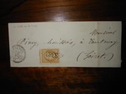 Enveloppe GC 3363 La Selle Sur Le Bied Loiret - 1849-1876: Classic Period