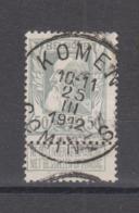 COB 78 Oblitération Centrale Bilingue KOMEN COMINES - 1905 Breiter Bart