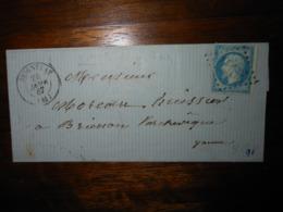 Lettre GC 3357 Seignelay Yonne - 1849-1876: Classic Period