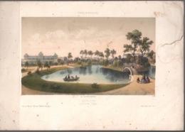Bordeaux Gravure 19e C.1850 Deroy Jardin Des Plantes - Estampes & Gravures