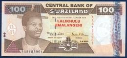 SWAZILAND 100 EMALANGENI P-32 PARLIAMENT ROCK FORMATION 2001 UNC - Swaziland