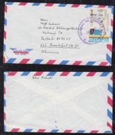 Ecuador 1977 Airmail Cover To Frankfurt Germany Visit Colombia - Ecuador