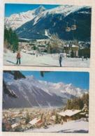 9AL2398 Lot De 2 Cartes CHAMONIX  2 SCANS - Chamonix-Mont-Blanc