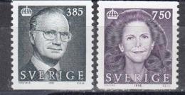 Schweden 1996 - Koenig Carl XVI, Koenigin Silvia, Mi-Nr. 1930/31, MNH** - Sweden