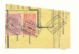 D603A -België Spoorwegen Nord Belge Op Fragment Stempel QUEVY  NB VOYAGEURS 1 - Chemins De Fer