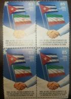 O) 2019 CUBA - CARIBBEAN,ISLAMIC REVOLUTION -BILATERAL RELATIONS WITH IRAN, FIDEL CASTRO AND IMAN JOMEINI, FLAG, MNH - Unused Stamps