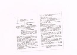 August Van Camp,Sint-Lenaerts,13.5.1921,Antwerpen 7.3.1980.oud Strijder Brigade Piron.1940-45. - Avvisi Di Necrologio