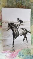 Actress  Soheir El-Morshedi  CPA Artiste Cinema Film - Horse - Pin-up - Swim Suit - Beach - Actores